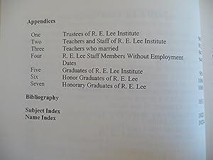 Proud to be from R. E. Lee; A History of R. E. Lee Institute, Thomaston, Georgia 1875-1992: Cliburn...