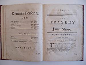 The Tragedy of Jane Shore Written in Imitation of Shakespear's style: Rowe, N.