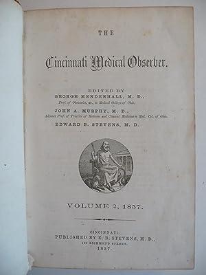The Cincinnati Medical Observer, (1857): Mendenhall, M.D., George; Murphy, M.D., John A.; Stevens, ...