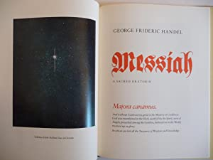 Messiah: The Wordbook for the Oratorio, (Signed by Barry Moser): Handel, George Frideric