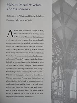 McKim, Mead & White: The Masterworks: White, Samuel G.; White, Elizabeth