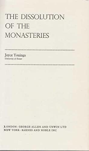 Dissolution Of The Monasteries: Youings, Joyce