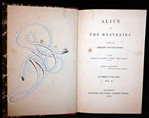 "Alice Or The Mysteries: A Sequel To ""Ernest Maltravers"": Bulwer, Sir Edward Lytton"