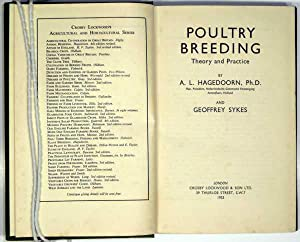Poultry Breeding: Theory And Practice: Hagedoorn & Sykes, A L & Geoffrey