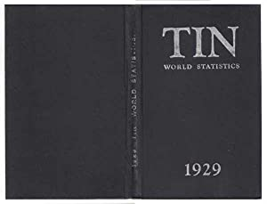 Tin: World Statistics 1929: Howeson [Chairman and Managing Director of The Anglo-Oriental Mining ...