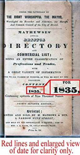 Mathewses' Annual Bristol Directory And Commercial List: Mathews