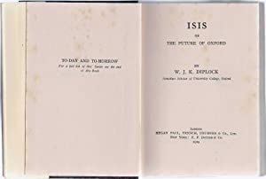 Isis Or The Future Of Oxford: Diplock W J K