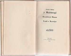 Y Mabinogi Breuddwyd Maxen ILudd a ILevelys: Kainc Pedeir