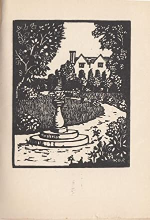 Of Gardens [No. 9 of 30 copies set and printed by Wilfred O Reynolds at the Peacock Press, Plymouth...