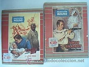 Lote 2 obras COLECCIÓN MOLINO: NORTE CONTRA SUR / FAMILIA SIN NOMBRE. VERNE, Julio. ...