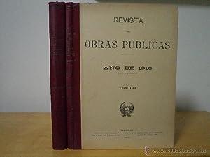 REVISTA DE OBRAS PÚBLICAS AÑO DE 1916 (LXIV DE SU PUBLICACIÓN). Tomos I-II: ...