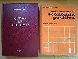 CURSO DE ECONOMÍA. CASAS PARDO, José. Imprenta Berguío, Madrid 1984, 4ª ...