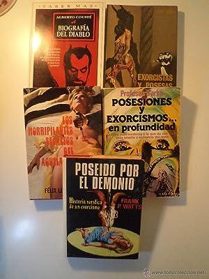 Lote 5 títulos demonología-exorcismos-brujería: POSEIDO POR EL DEMONIO. ...