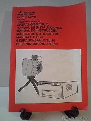 MITSUBISHI ELECTRIC PHOTO ID SYSTEM 900-ID. Manual de Operaciones. Operation Manual. (DIS900D+...