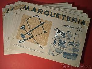 Marquetería. Colección que, de menor a mayor dificultad, comprende los siguientes 18 ...