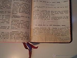 MISAL ROMANO EN SU ESTUCHE. Comienza con: Detallado en descripción.