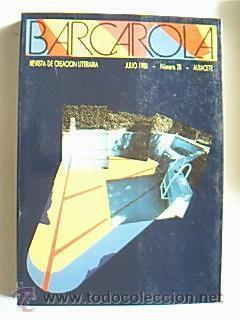 Barcarola¿ Núm. 28 de julio 1988. Poesía: Detallado en descripción.