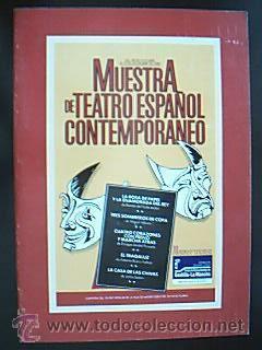 Muestra de Teatro Español Contemporáneo. 70 representaciones: Detallado en descripción.