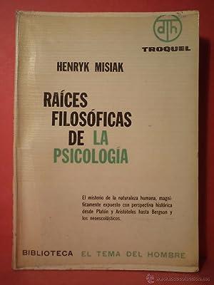 RAICES FILOSÓFICAS DE LA PSICOLOGÍA. El misterio: Detallado en descripción.
