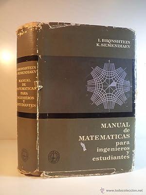 MANUAL DE MATEMÁTICAS PARA INGENIEROS Y ESTUDIANTES.: Detallado en descripción.