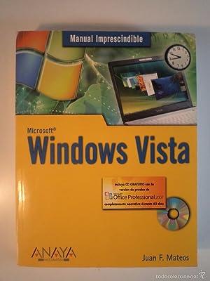 MICROSOFT WINDOWS VISTA. Incluye CD con la: Detallado en descripción.