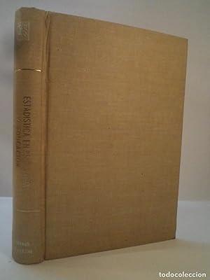 ESTADÍSTICA EN PSICOLOGÍA Y EDUCACIÓN. GARRET, Henry: Detallado en descripción.