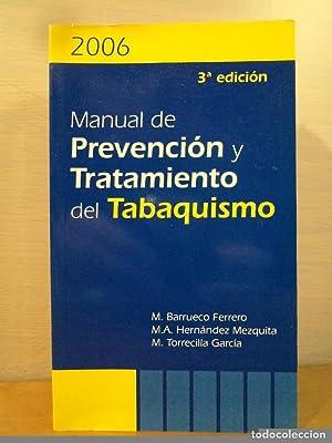 MANUAL DE PREVENCIÓN Y TRATAMIENTO DEL TABAQUISMO.