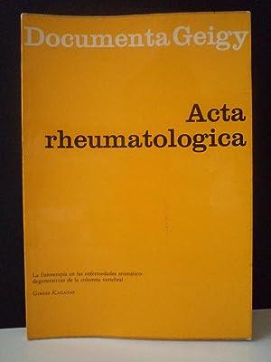ACTA REUMATOLOGICA. La fisioterapia en las enfermedades reumático-degenerativas de la ...