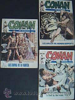CONAN Vol 3-4-18: Las zarpas de la tigresa-Los anillos del hombre serpiente-La furia del dios ...