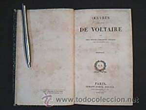 OEUVRES COMPLETES DE VOLTAIRE: DIALOGUES ET ENTRETIENS PHILOSOPHIQUES. Armand-Aubrée, &...