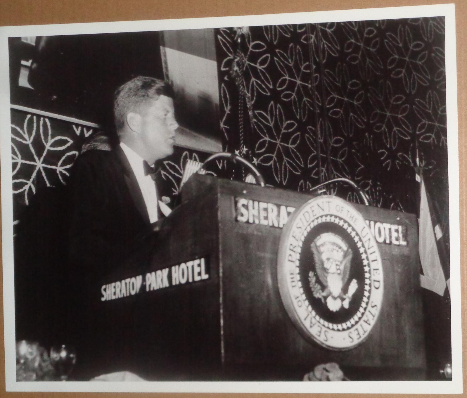 "1962 President Kennedy Original Photo: Washington - """"I'm against My Entire Program"""" John F. Kennedy Fine"