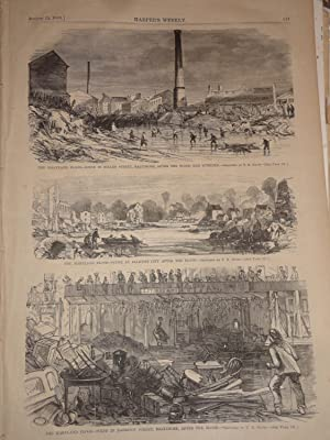 "HARPER'S WEEKLY - SATURDAY, AUGUST 15, 1868 - Thomas Nast ""Reconstruction"" on cover ..."