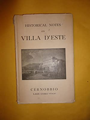 HISTORICAL NOTES ON VILLA D'ESTE: CERNOBBIO