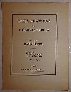 TROIS CHANSONS de F. GARCIA-LORCA L'ENFANT MUET: POULENC, FRANCIS (MUSIQUE