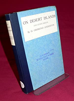 On Desert Islands & Other Essays: Howard Orsmond Anderton