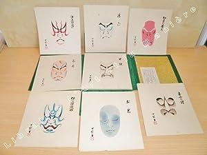 Kabuki Kumadori Haykumens Shu (100 Visages maquillés: HAYASHI EIKICHI.