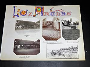 LUZARCHES. Ensemble de 4 photographies originales, avec décors et illustrations manuscrits Belle ...