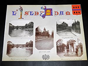 L'ISLE-ADAM. Ensemble de 5 photographies originales, avec décors et illustrations manuscrits Bell...