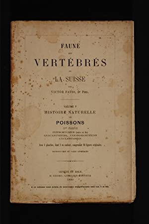 Faune des vertebres de la Suisse, volume: Fatio