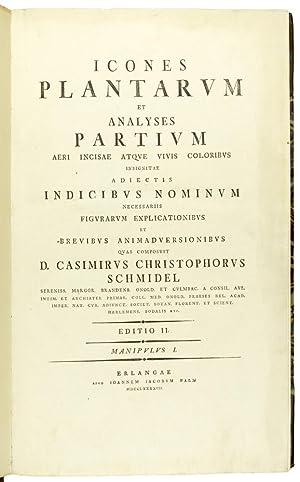 Icones plantarum et analyses partium aeri incisae atque vivis coloribus indicibus nominum ...