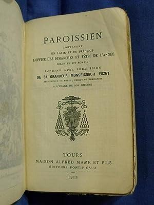 Paroissien romain à l'usage du diocèse de Rouen