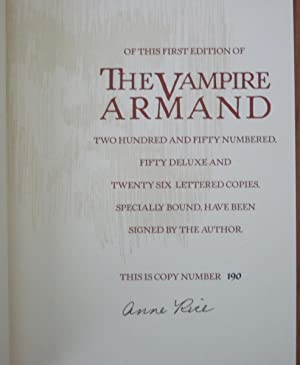 The Vampire Armand - B.E. Trice Limited Edition: Anne Rice