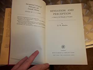 Sensation and Perception, a history of the Philosophy of perception: Hamlyn, D. W.