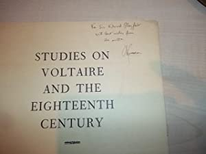 Studies on Voltaire and the Eighteenth Century