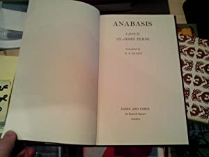 Anabis a poem by St. -John Perse: Eliot, T.S.