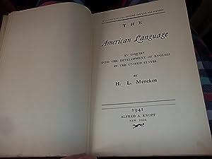 The American Language: Mencken