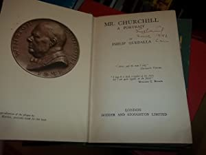 Mr. Churchill, A Portrait: Guedalla, Philip