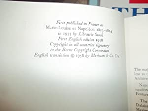 My Dearest Louise, Marie-Louise and Napoleon 1813-1814: Palmstierna