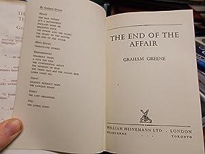 The end of the affair: Greene, Graham