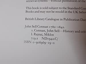 John Sell Cotman, 1782-1842: Cotman, John Sell;Rajnai, Miklos